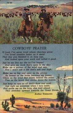 Cowboy's Prayer Cowboy Western
