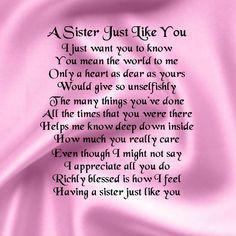 Personalised Coaster - Sister Poem - Pink Silk Design + FREE GIFT BOX ...