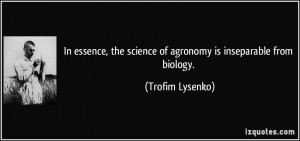 More Trofim Lysenko Quotes