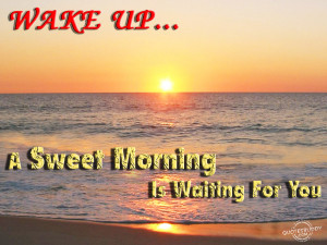 Sweet Morning Is Waiting For You