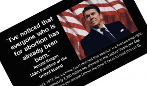 Ronald Reagan Abortion Quote By