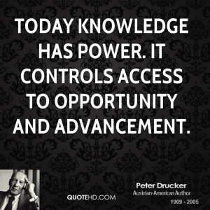 Knowledge Is Power Quote Peter drucker power quotes