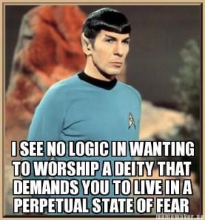 ... , God Is, Stars Trek, Funny Stuff, Startrek, Atheist, Spock Quotes