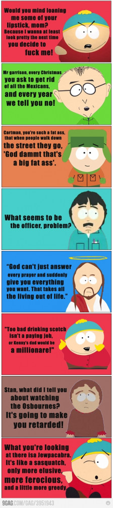 South Park Quotes Tumblr Some great south park quotes · found on 9gag ...