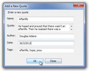 Quick Quote: Easily Save, Retrieve & Manage Your Favorite Quotes