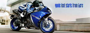 Yamaha Blue Bike Custom Quote fb Cover