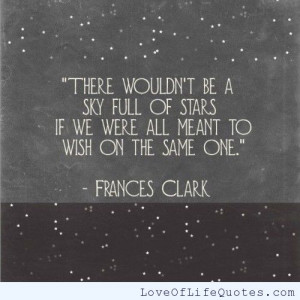 Frances Clark – There wouldn't be a sky full of stars…