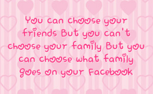... because life changes so quickly that Family Quotes for Facebook Status