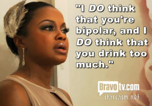 "... you drink too much."" – Phaedra Julius Caesarks to Porsha Stewart"