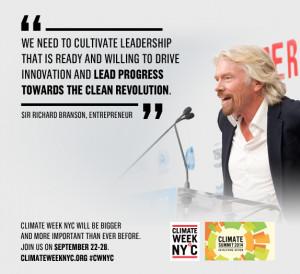 Richard Branson supports the Clean Revolution