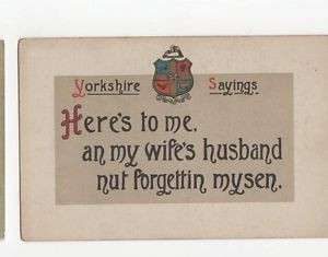 Yorkshire Sayings Vintage Postcard 0697 £3.25 Buy it now See ...