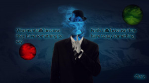 Anonymous dark horror anarchy plato quote wallpaper background