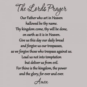 The Lords Prayer Wall Decal Bible Quote Christian Wall Scripture Home ...