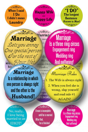 MARRIAGE Bottle Cap Images FUNNY SARCASTIC Sayings Digital Collage ...
