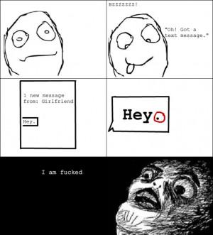 Texting girlfriend paranoia