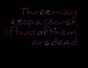 Quotes About Keeping Secrets