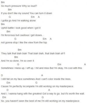 Jessie J - Masterpiece Chords Capo 1: Chords Capo, Masterpiece Chords ...