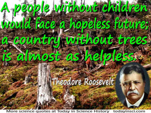 "Theodore Roosevelt quote ""people without children would face a ..."