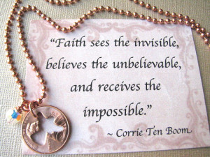 Stamped Penny from Heaven Necklace - The Angel