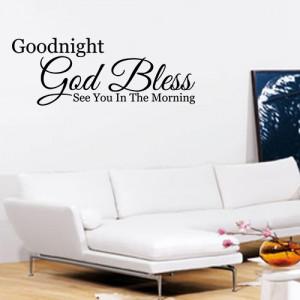 Detalles de Buenas Noches Dios bendiga a Arte De Pared citar Sticker ...