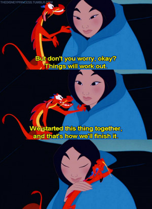 Disney Princess Mulan and Mushu