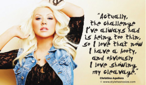 An interview with Christina Aguilera in Lucky magazine 's October ...