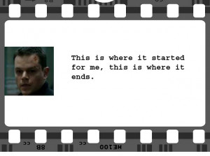 The Bourne Ultimatum | Jason Bourne (Matt Damon) | Screenplay: Tony ...