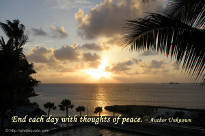 Peaceful Images With Quotes With thoughts of peace.
