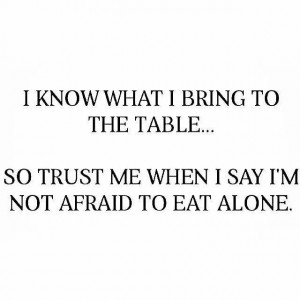 know what I bring to the table.... So trust me when I say I'm not ...