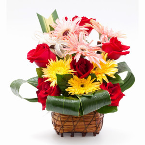 Flower Gift Basket. Sayings To Send With Flowers. View Original ...
