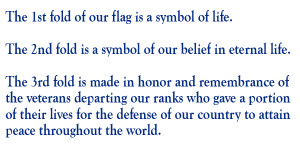 After Taps is played, the flag is carefully folded into the symbolic ...