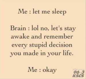 Can't sleep...thinking too much!