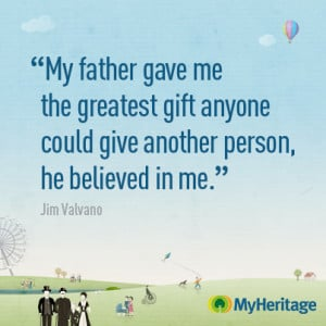 ... your father's legacy than with his family tree, past and present