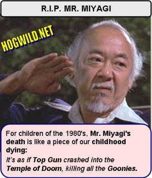 HOGWILD.NET semi-hilarious comedy: Pat Morita Karate Kid jokes and ...
