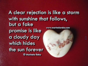 ... quote about rejection and fake promise quotes Quotes and Sayings