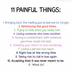 Quotes About Enjoying Life: ELEVEN PAINFUL THINGS IN LOVE Quote ...