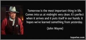 More John Wayne Quotes