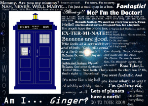 Doctor Who Awesome Quotes by 13land-Taco