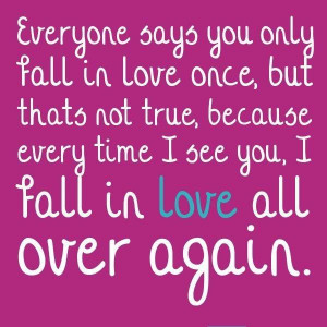 Falling in love everyday