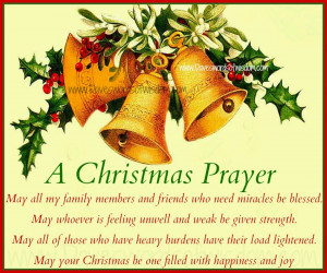 May all my family members and friends who need a miracle be blessed.