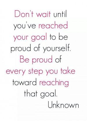 Reaching goals