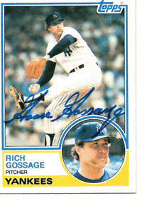 Goose Gossage Autographed 1983 Topps 240 card PSA DNA