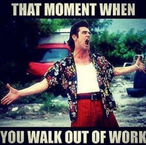 Funny leaving work meme
