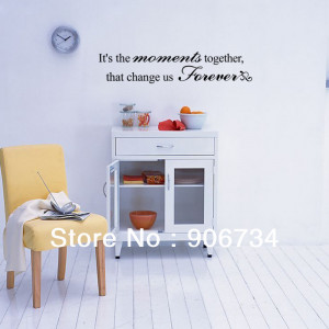 ... Removable Art Mural Wall Decal Stickers Moment Together Quote Vinyl