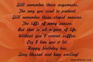 Happy Birthday To My Big Brother Poems Brother birthday poems