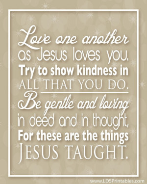 Love God and love one another!