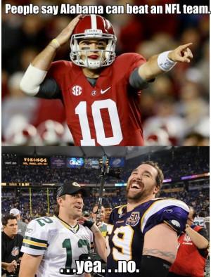 People Say Alabama Can Beat An NFL Team
