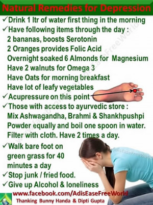 Natural Remedies for depression,healthy food,Tip, Healthy Life
