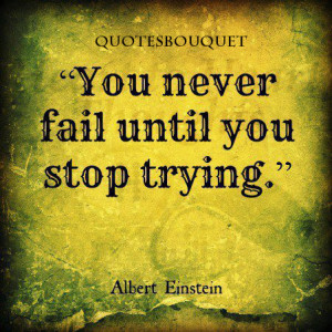QUOTES: You Never Fail Until You Stop Trying