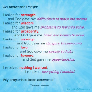 an answered prayer